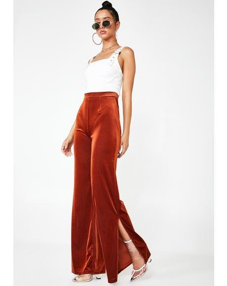 Dakota Velvet Flare Pants