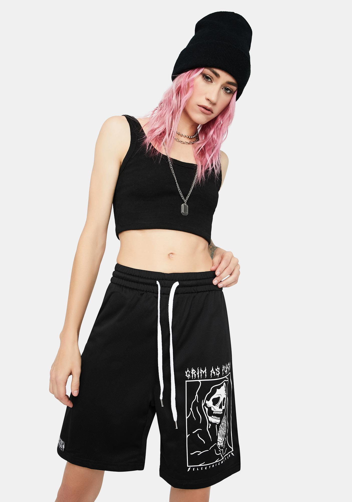 Electric Witch Grim Gym Shorts