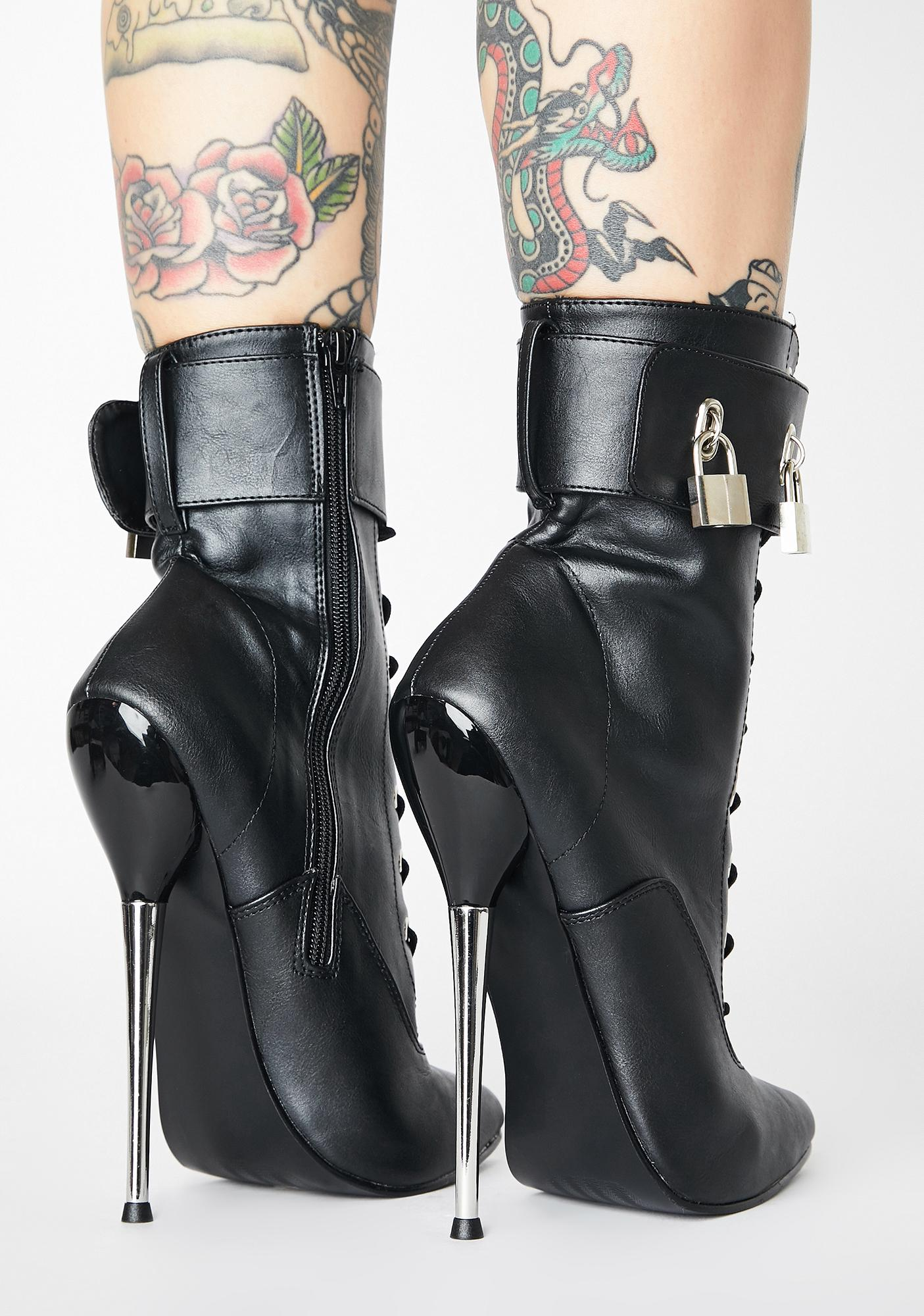 Pleaser Lust Locked Up Stiletto Boots