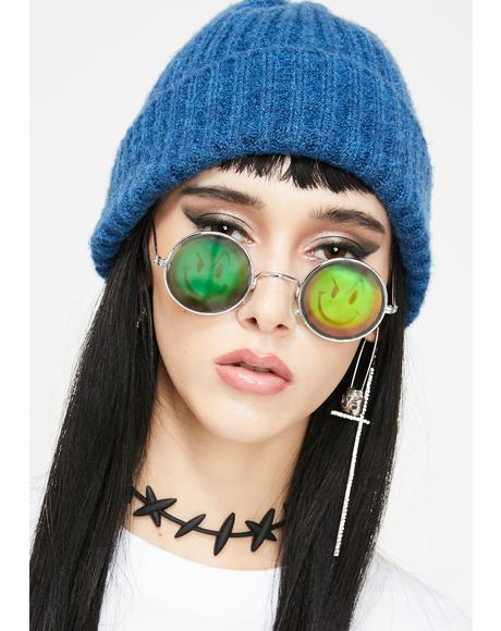 Smirk N' Smile Hologram Sunglasses