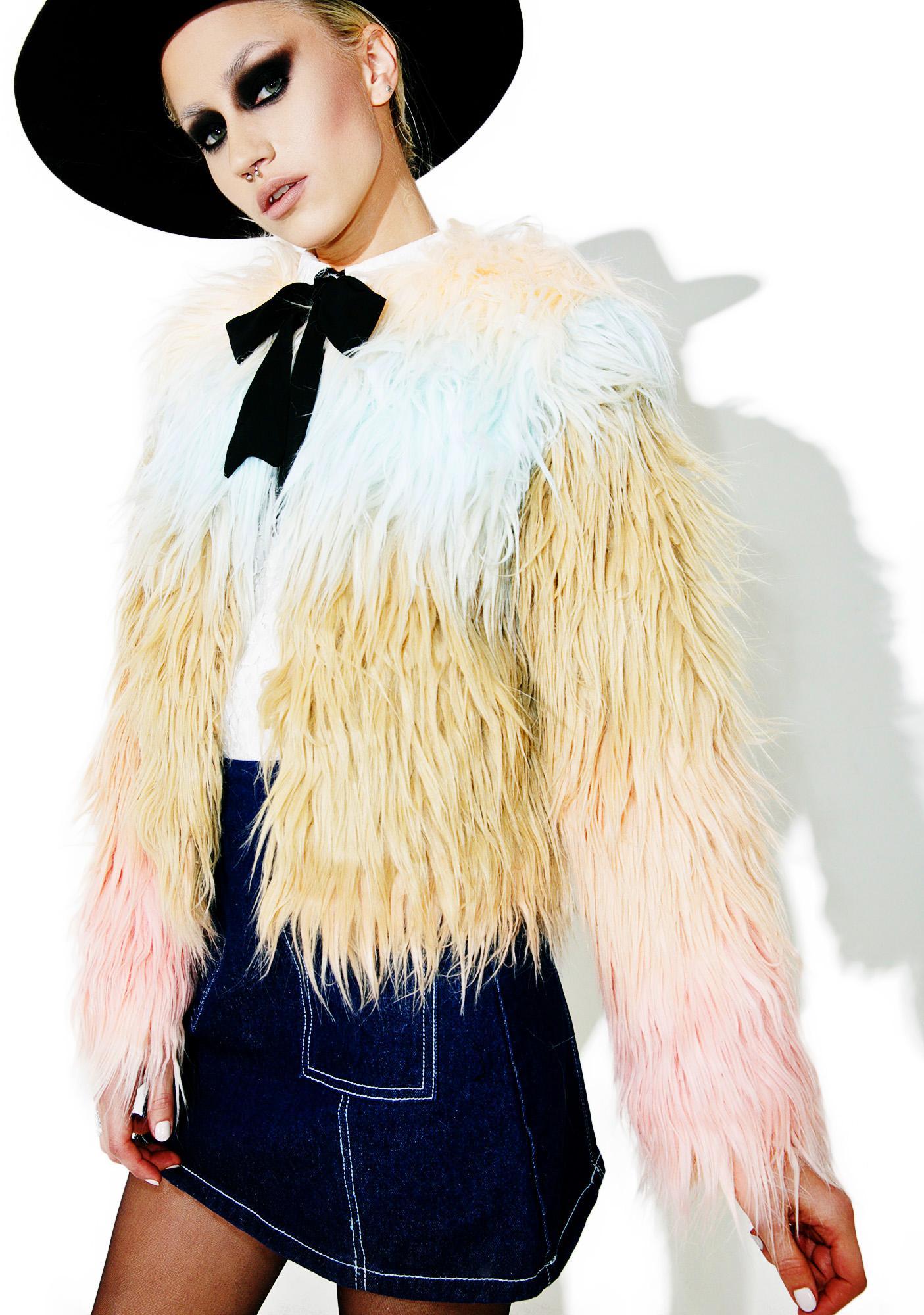 Glamorous Sherbert Faux Fur Coat