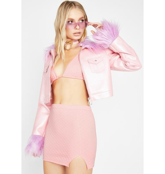 Blush I'm Your Babe Quilted Set