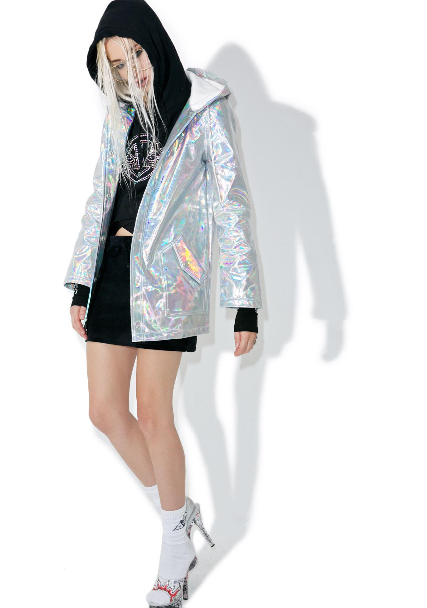 Glamorous Holographic Raincoat