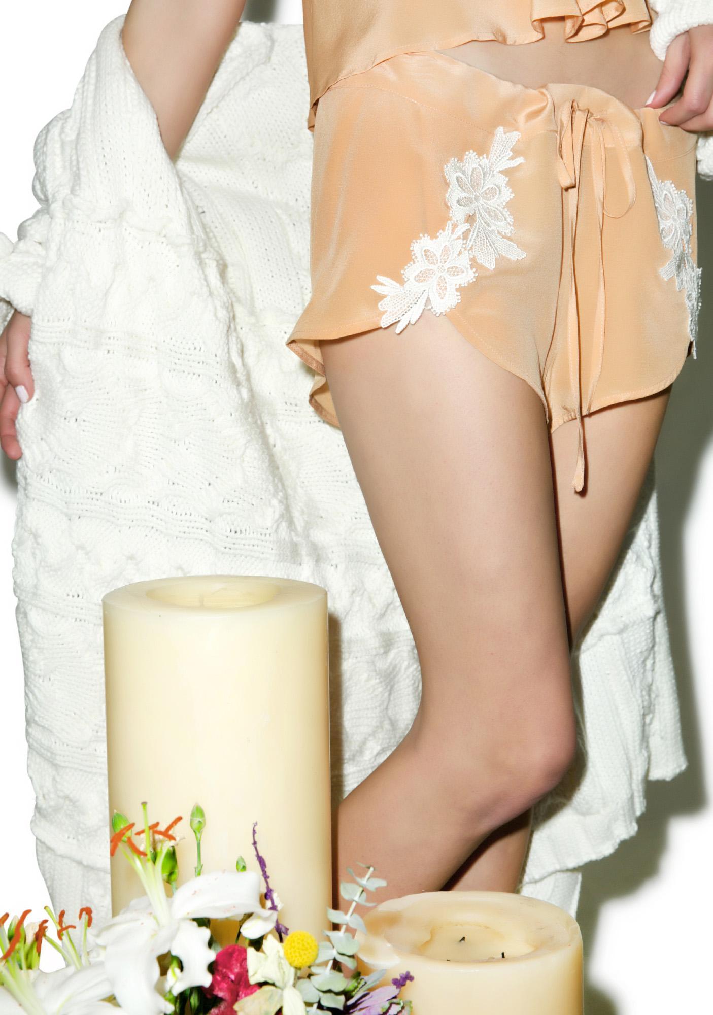 For Love & Lemons Adeline PJ Shorts
