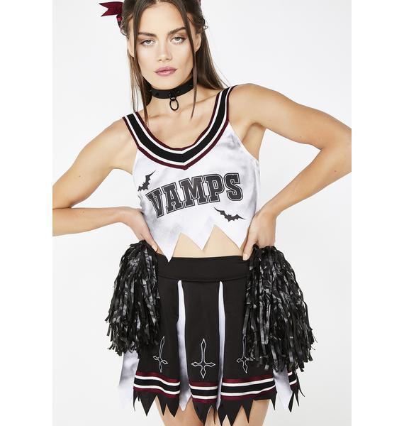 Trickz N' Treatz Vamp Cheerleader Costume Set
