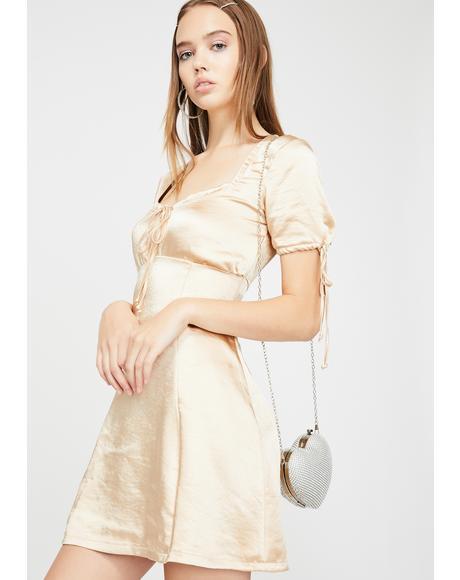 Gold Guenette Satin Dress