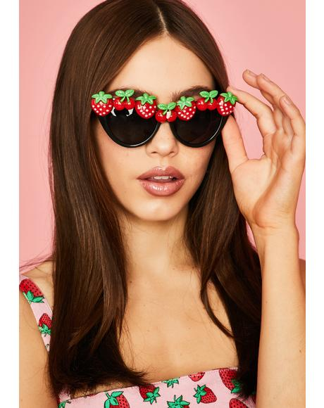 Strawberry Fields Cat Eye Sunglasses