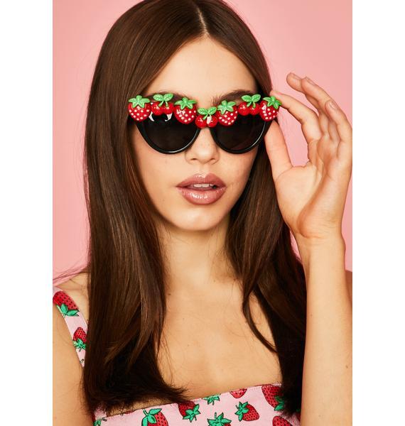 Strawberry Fields Cat Eye Sunglasses