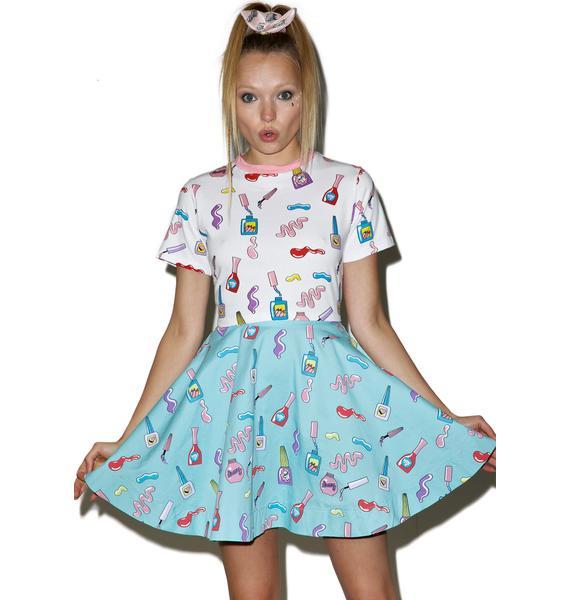 Lazy Oaf Nail Art Circle Skirt