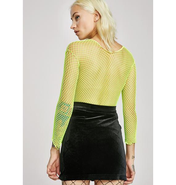 Gut Feeling Velvet Skirt