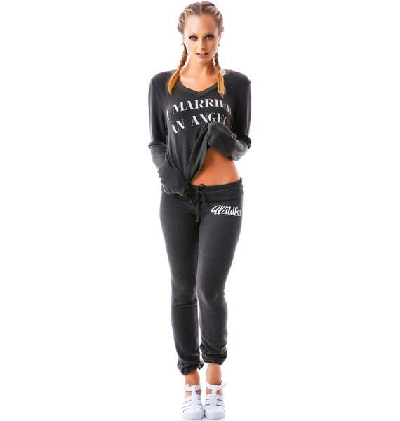 Wildfox Couture 60's Wildfox Bottoms Vintage Varsity Skinny Malibu Sweats