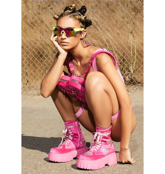 Club Exx Feel My Heartbeat Fuzzy Boots
