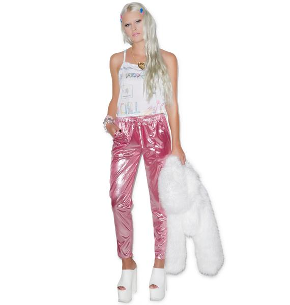 Bubblicious Metallic Pants