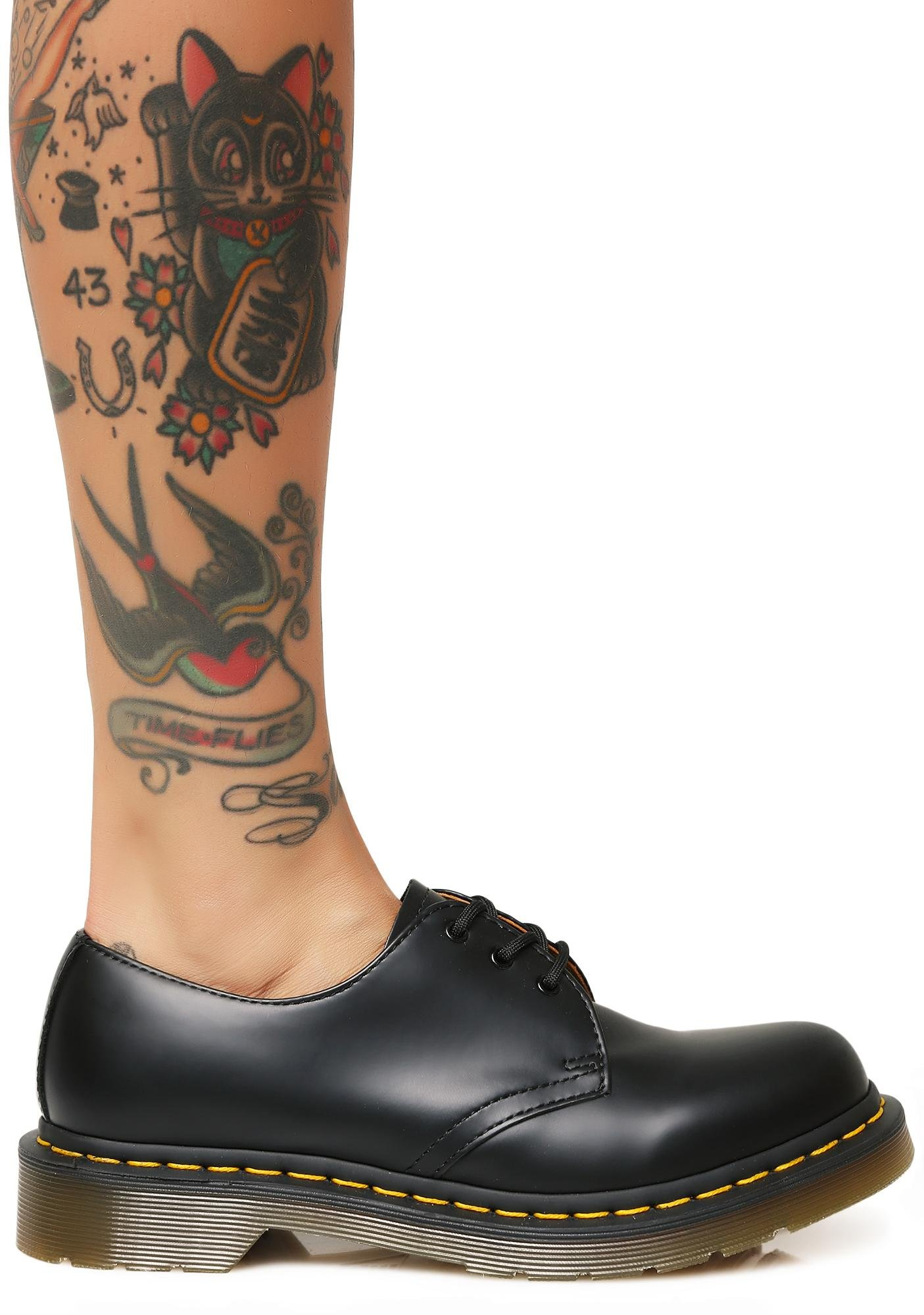 Dr. Martens Women's 1461 3 Eye Smooth Flats