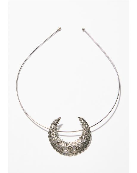 Chrome Eartha Crescent Tiara Headband