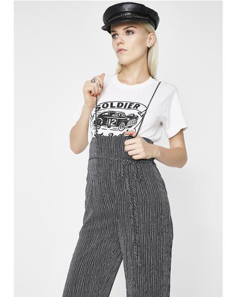 Baddie Bandit Suspender Jumpsuit