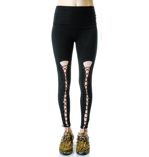 HLZBLZ  x Belle of the Brawl Bondage Leggings