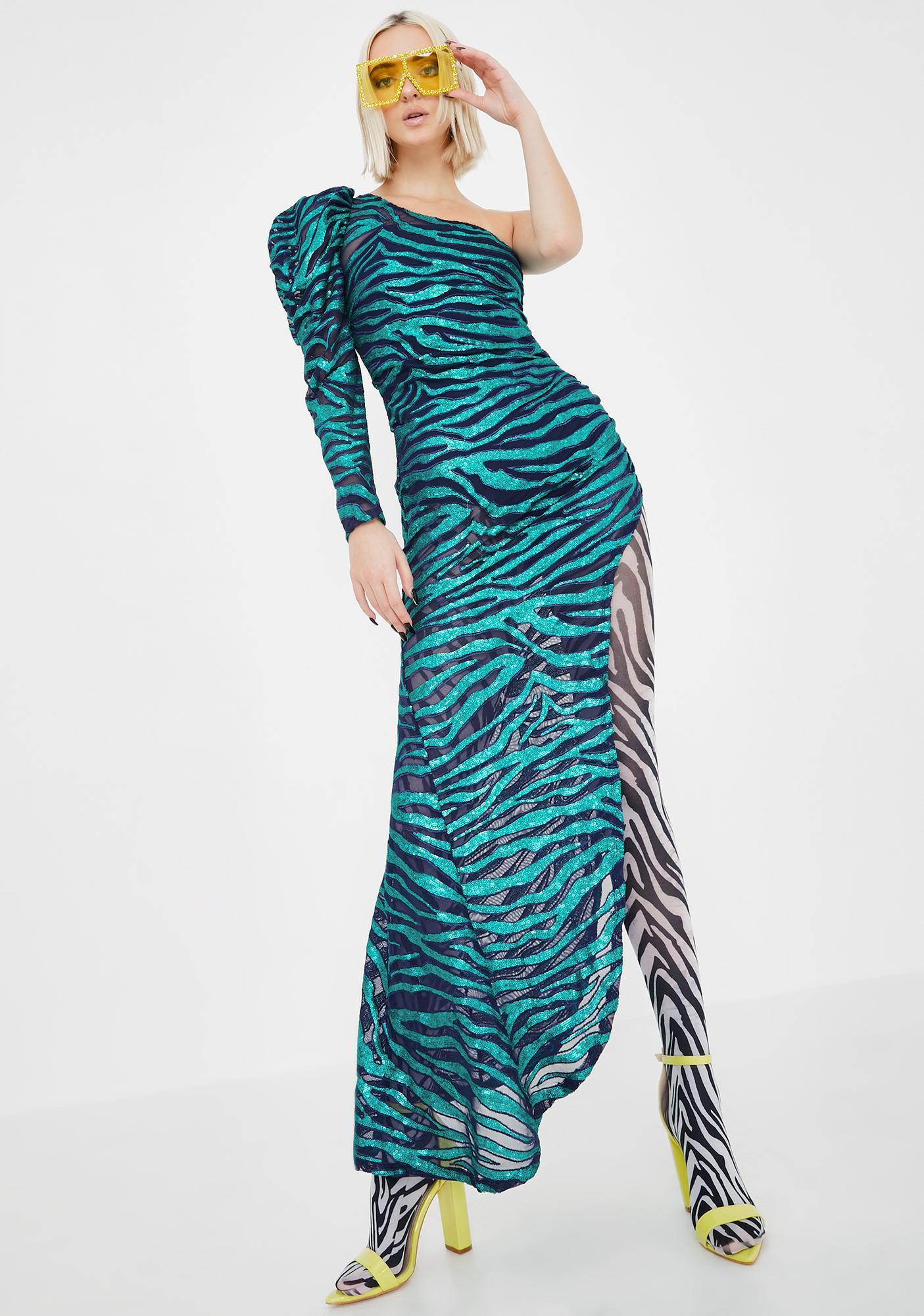 For Love & Lemons Vixen One Shoulder Maxi Dress
