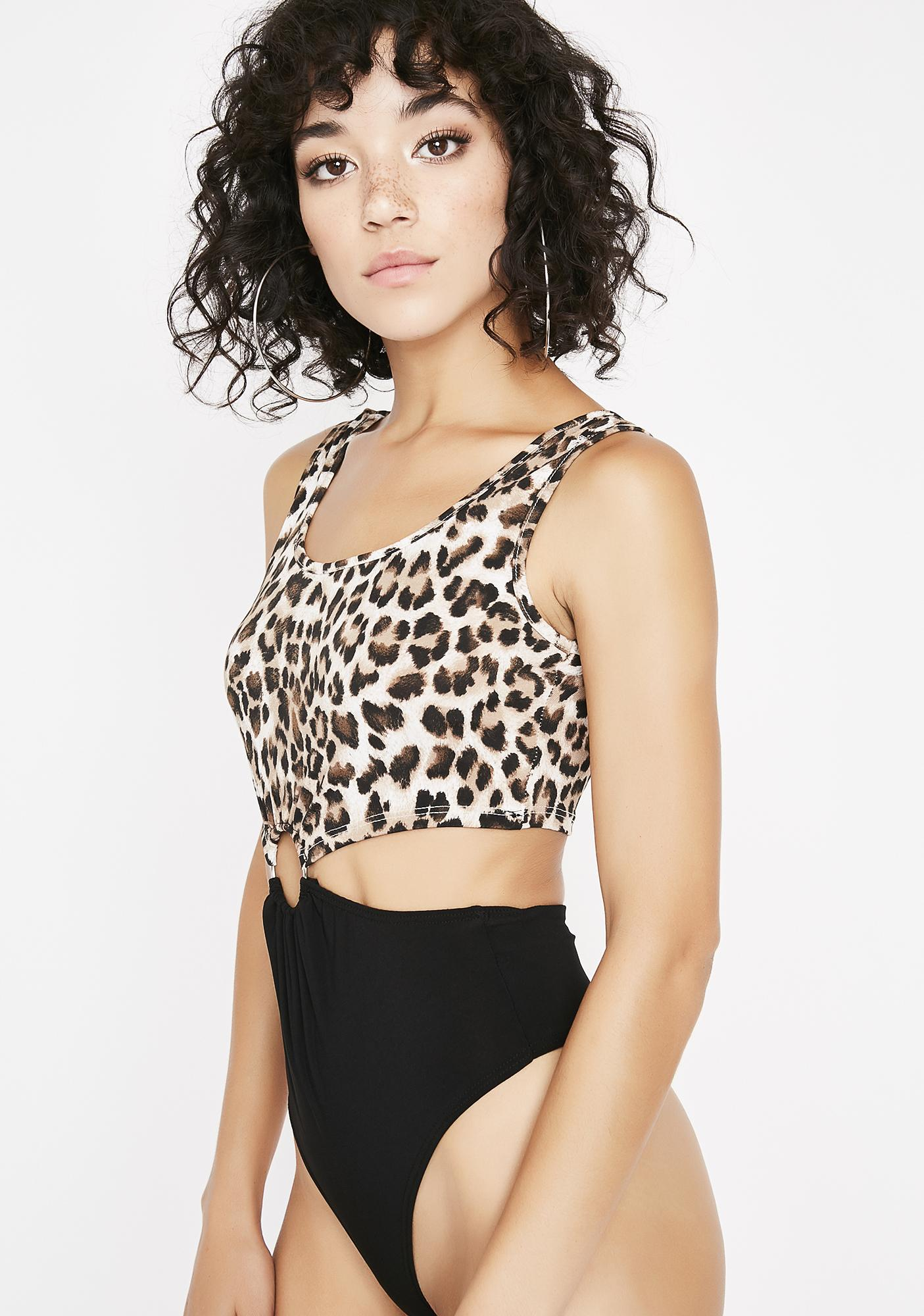 Animal Instincts Cutout Bodysuit