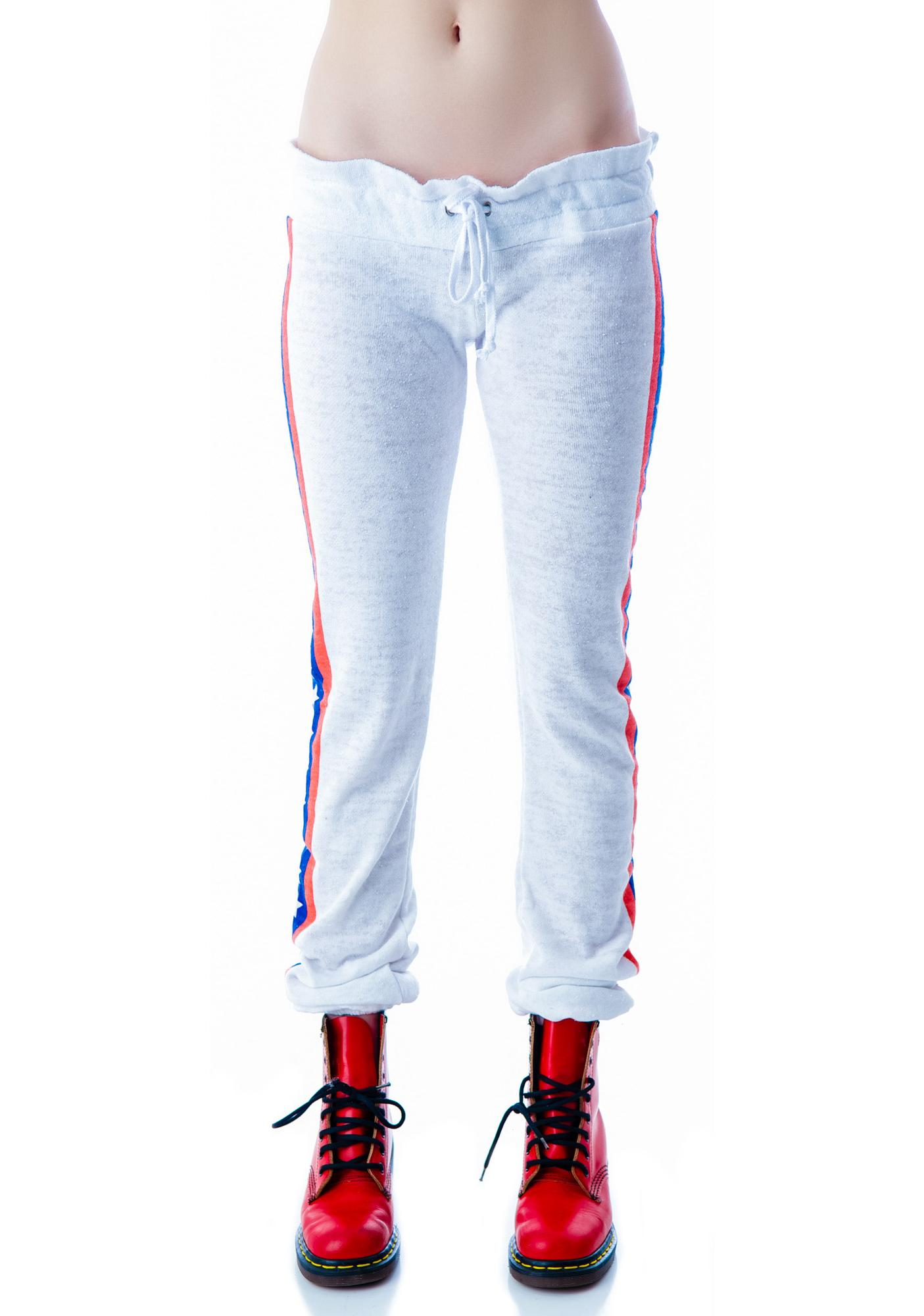 Wildfox Couture Let's Race Malibu Skinny Sweats