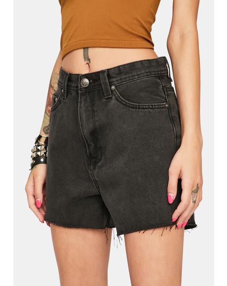Hi Tide High Waist Denim Shorts