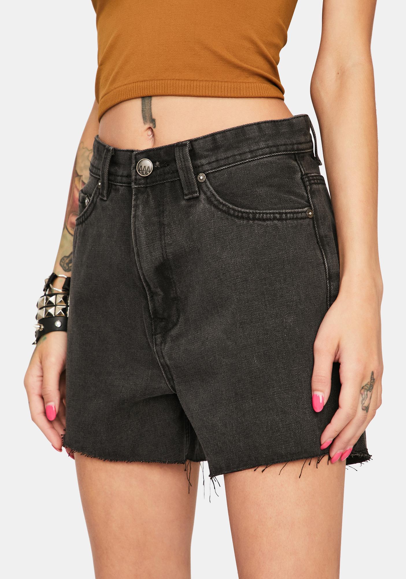 Zee Gee Why Hi Tide High Waist Denim Shorts