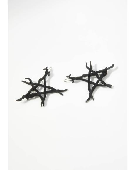 For A Spell Star Two Piece Hair Clip Set