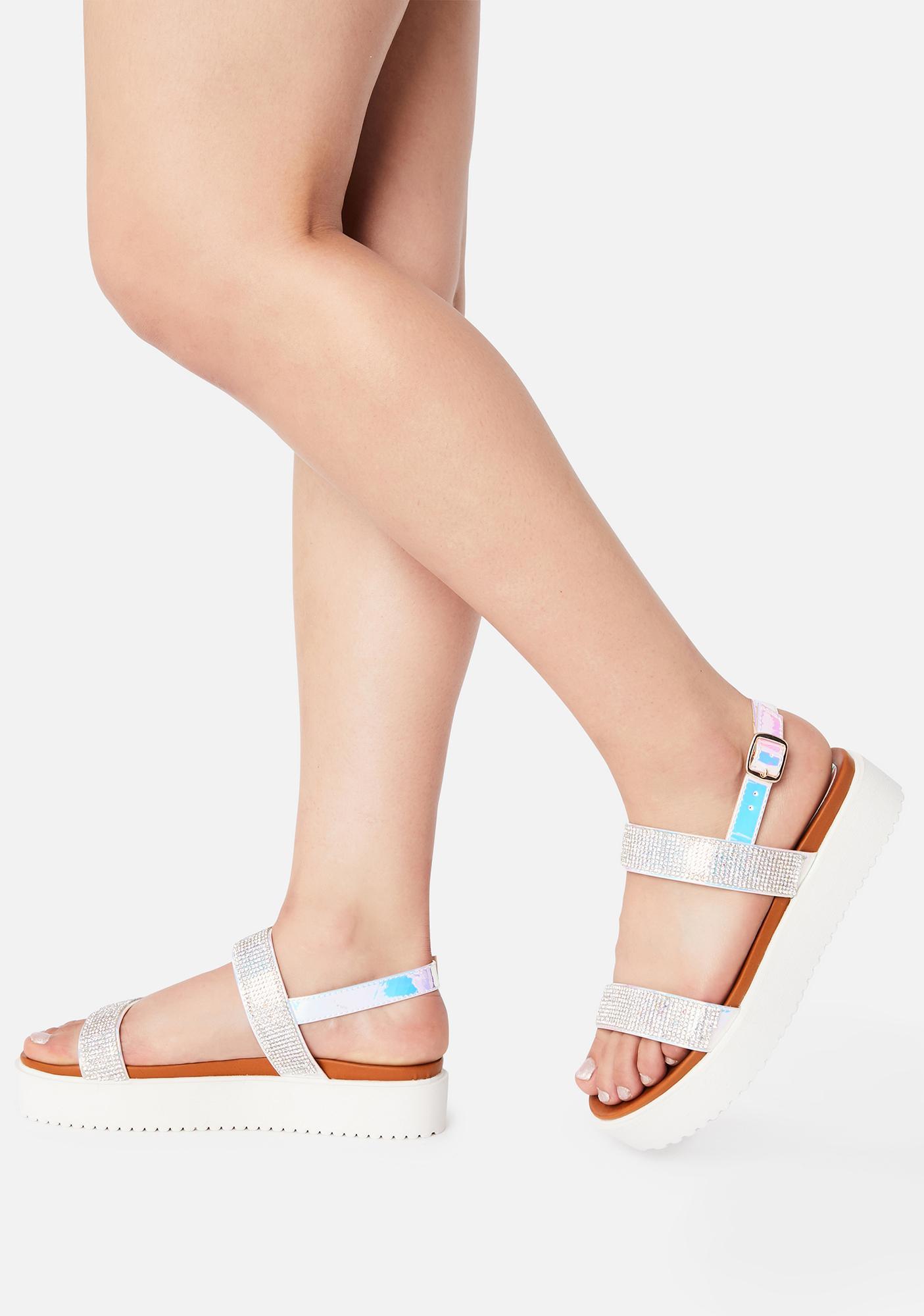 AZALEA WANG Paradise Platform Sandals