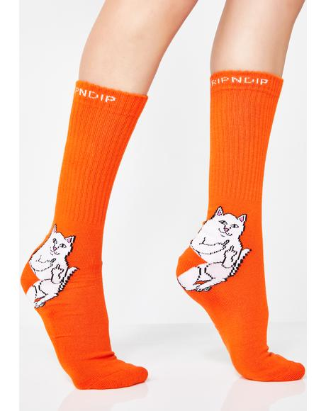 Juiced Lord Nermal Socks