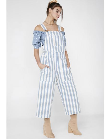 Just Want You Stripe Overalls