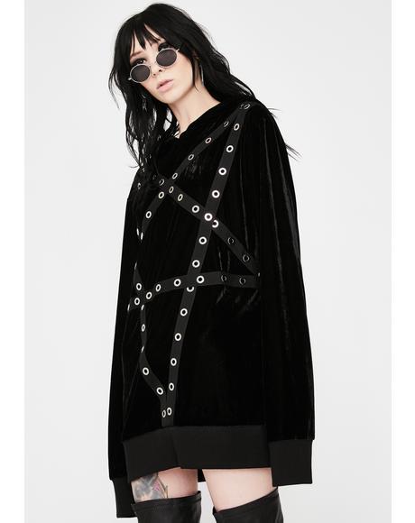 Wicca Velvet Pullover Hoodie