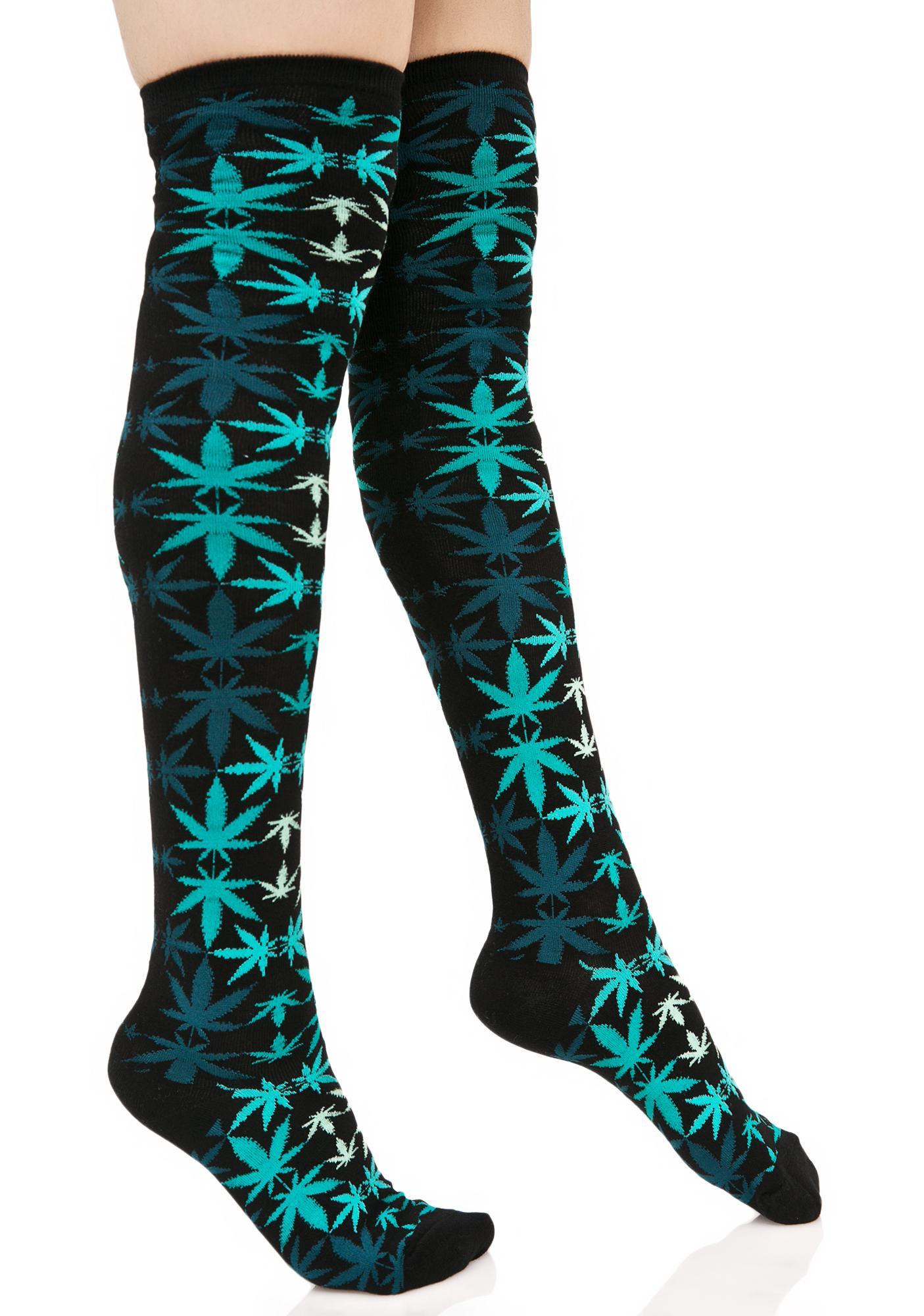 HUF Plantlife Kaleidoscope Knee Sock