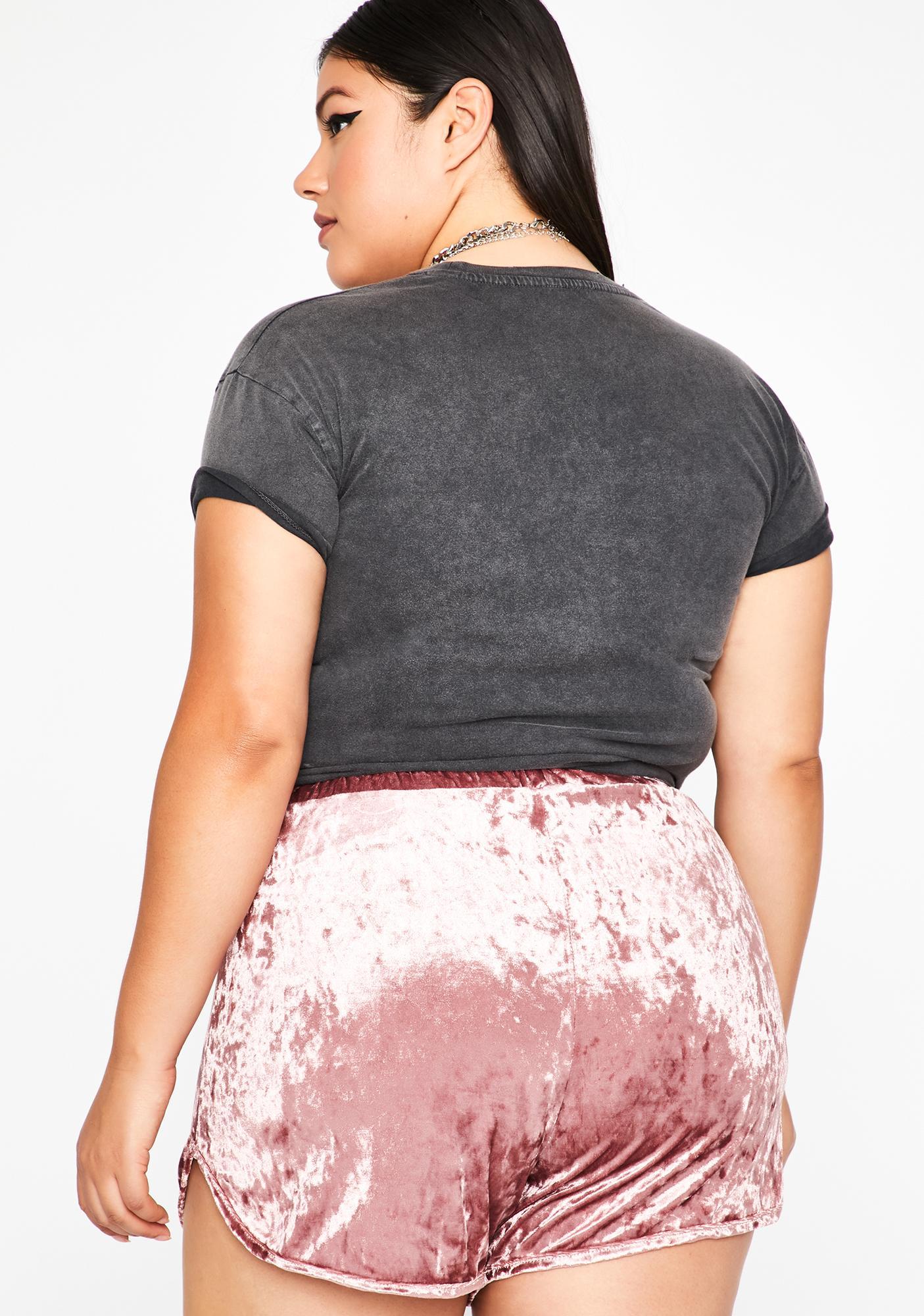 Miss Secret Seduction Velvet Shorts