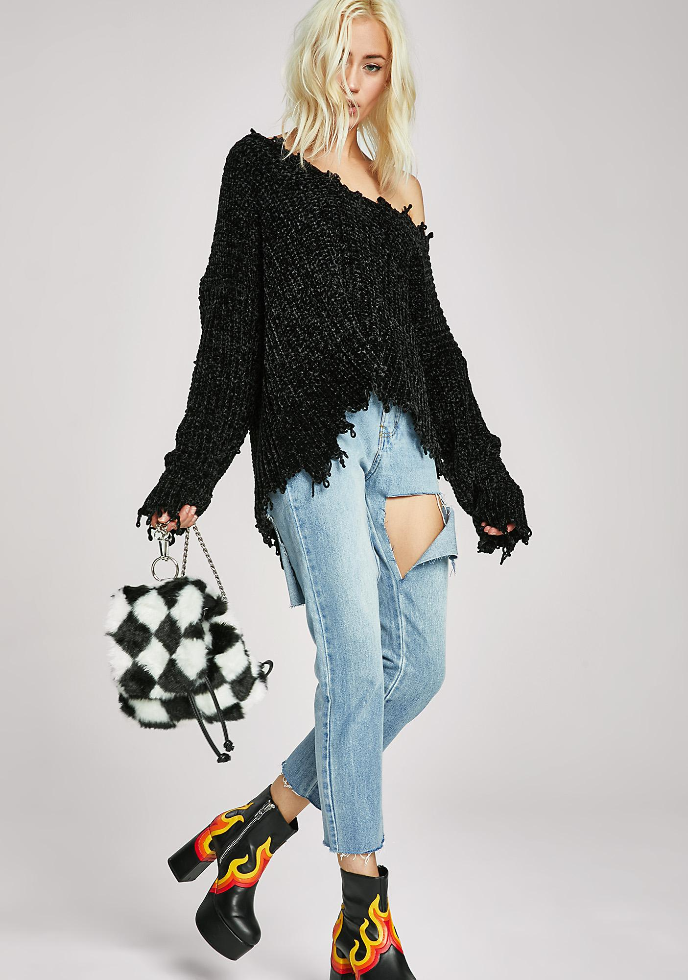 In Shambles Shredded Sweater