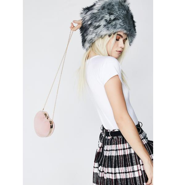 Blush From The Heart Furry Bag
