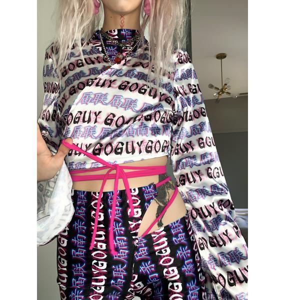GoGuy Delusion Cropped Kimono Top