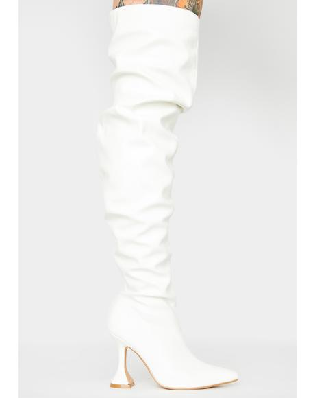 Iced Toxic Flight Over The Knee Boots
