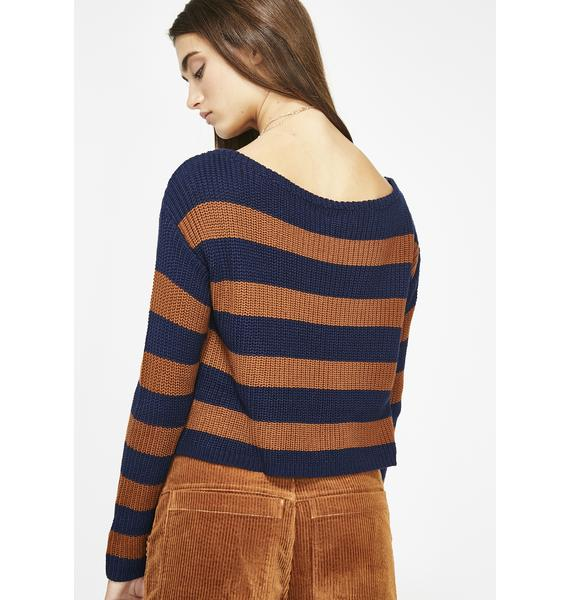 Blazed Out Babe Striped Top