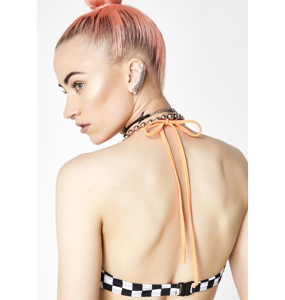 Jaded London Checkerboard Underwire Bikini Top