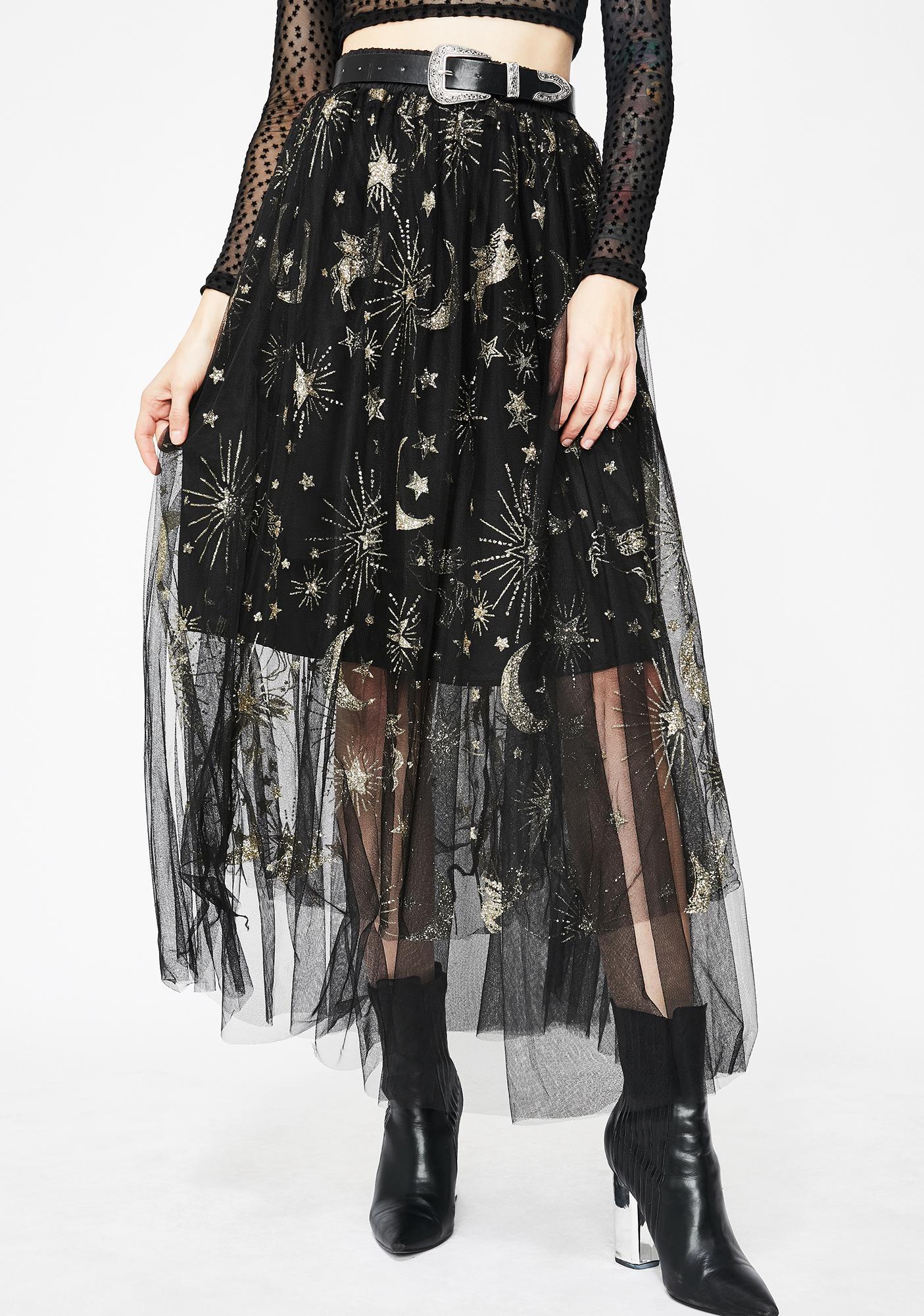 8191afe01 Star Moon Tulle Maxi Skirt   Dolls Kill