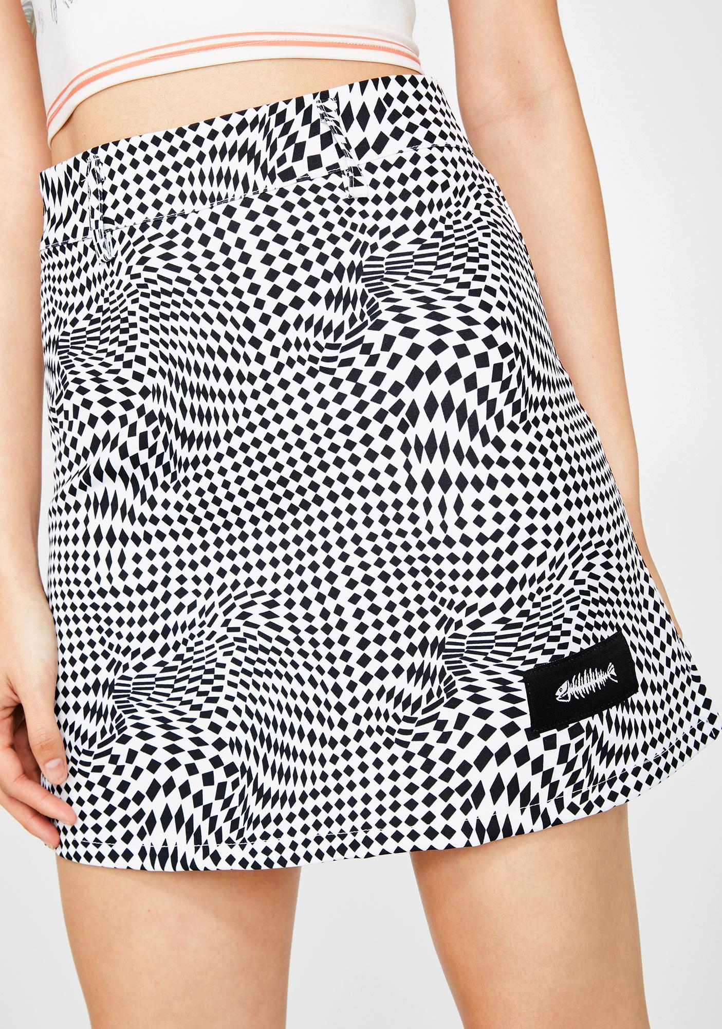ZEMETA Psychedelic Mini Skirt