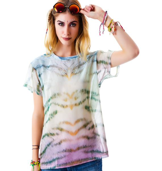 Wildfox Couture Sherbert Tiger Print Breezie T