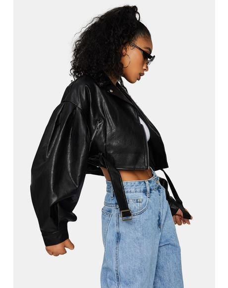 Got Bad Blood Crop Moto Jacket