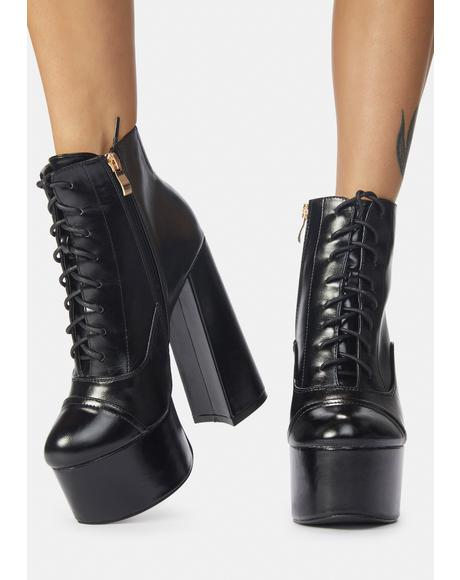 Bouncin' Back Lace Up Ankle Boots