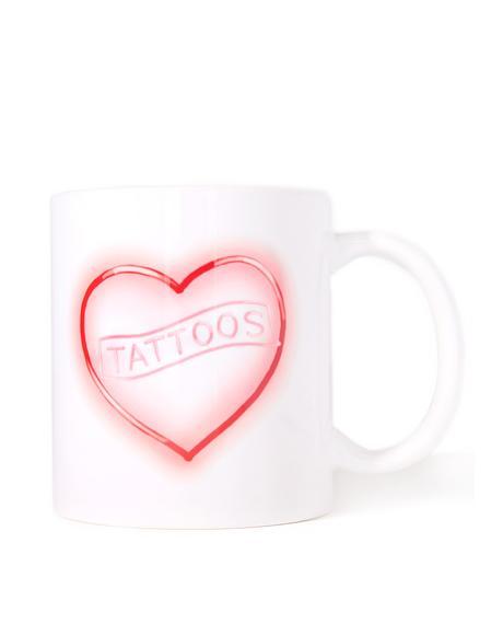 Neon Tattoo Love Mug