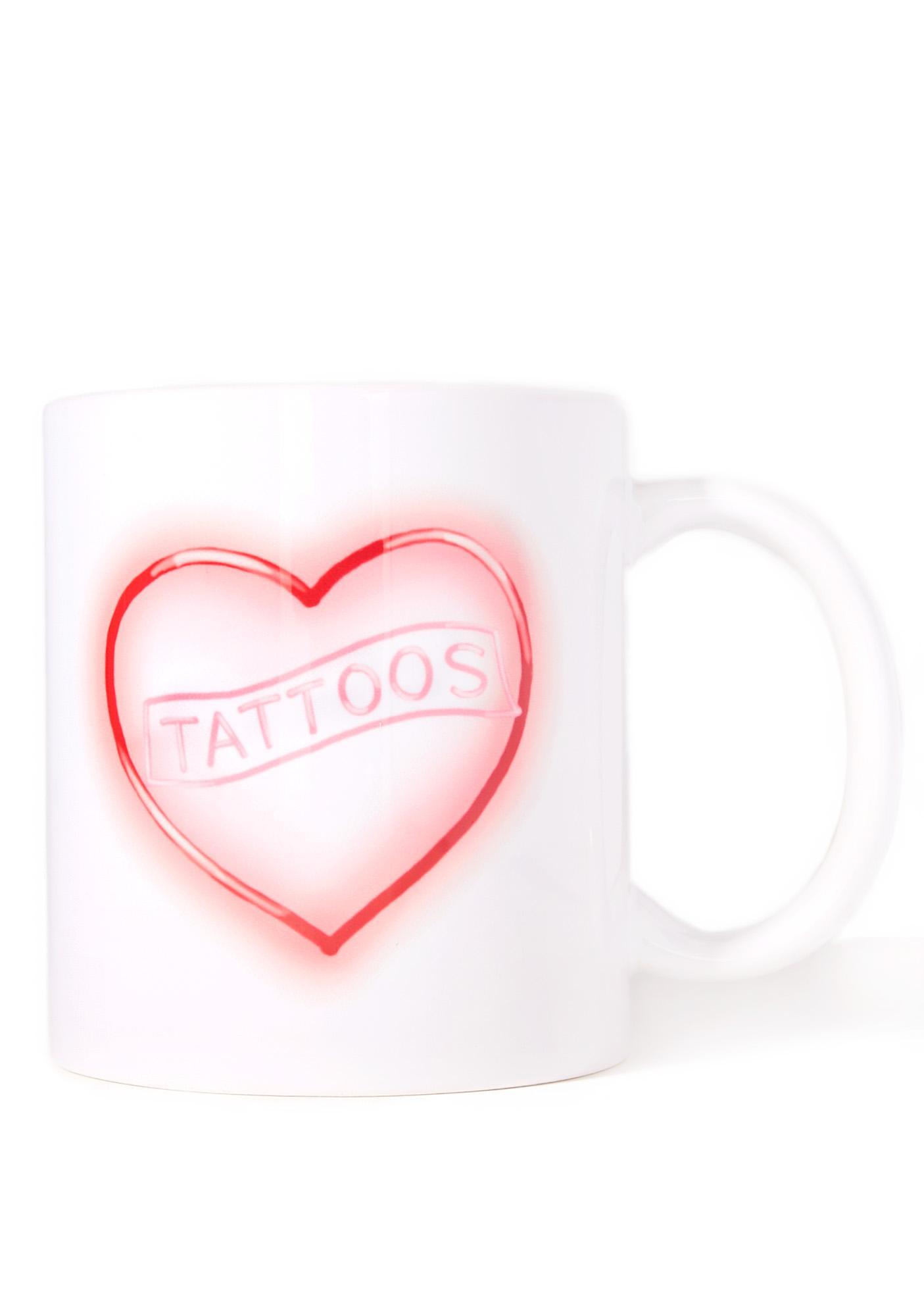 Laser Kitten Neon Tattoo Love Mug