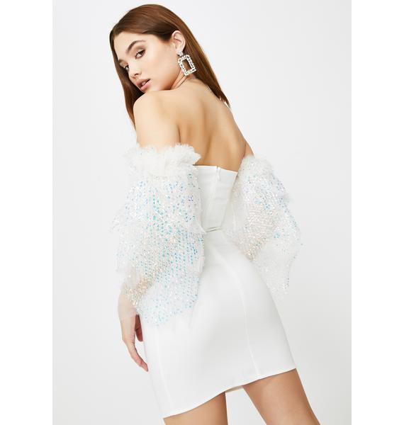SHRINE Evanna Tulle Mini Dress