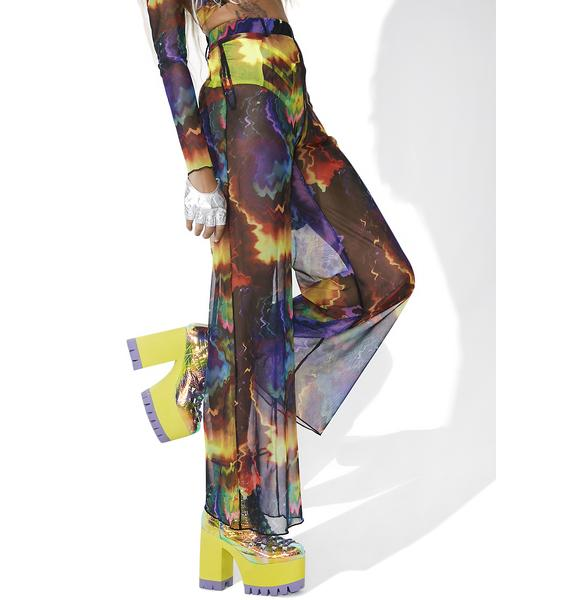 As I Am Hurricane Sheer Printed Pants