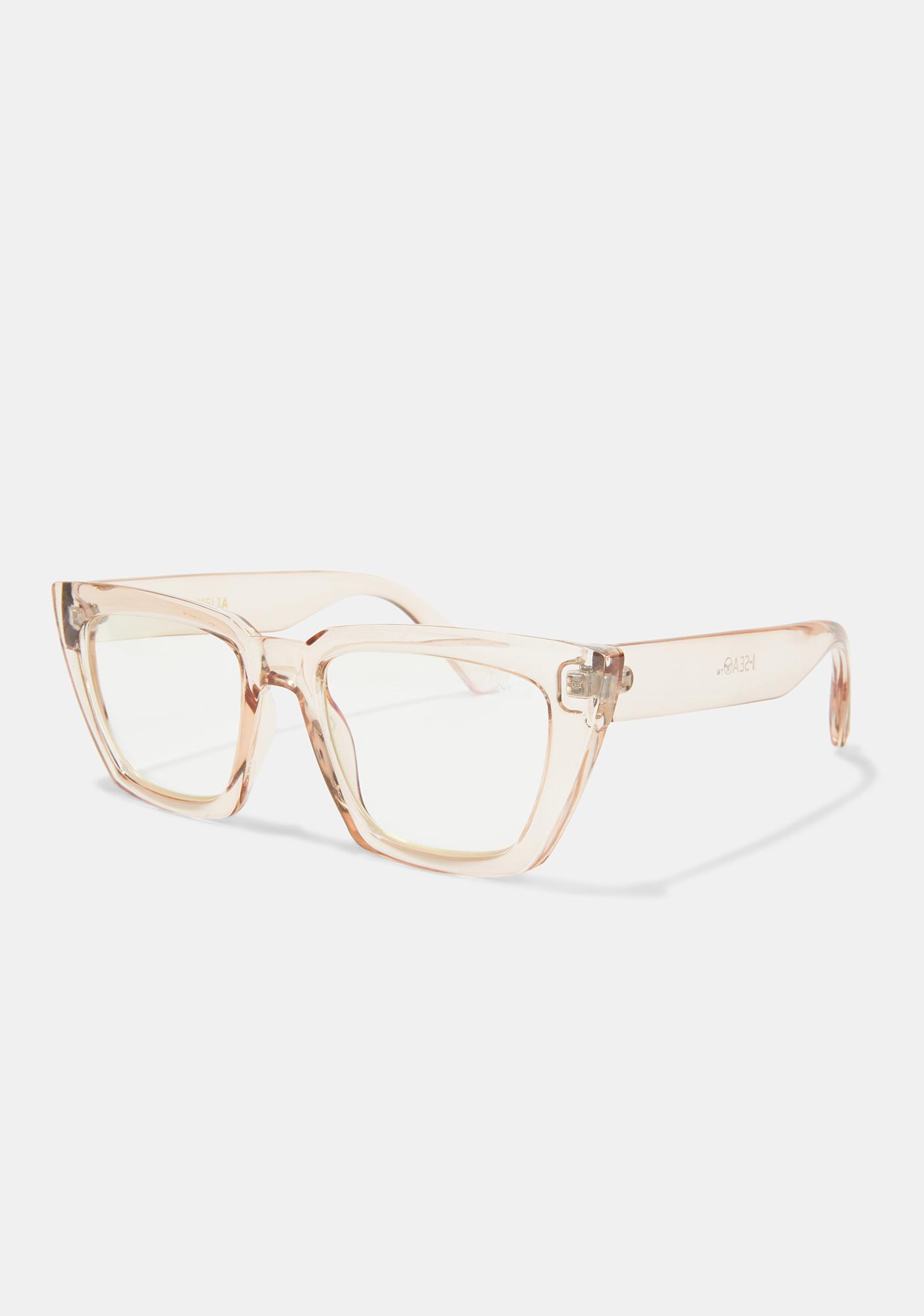 I-SEA Amelia Taupe Blue Light Glasses