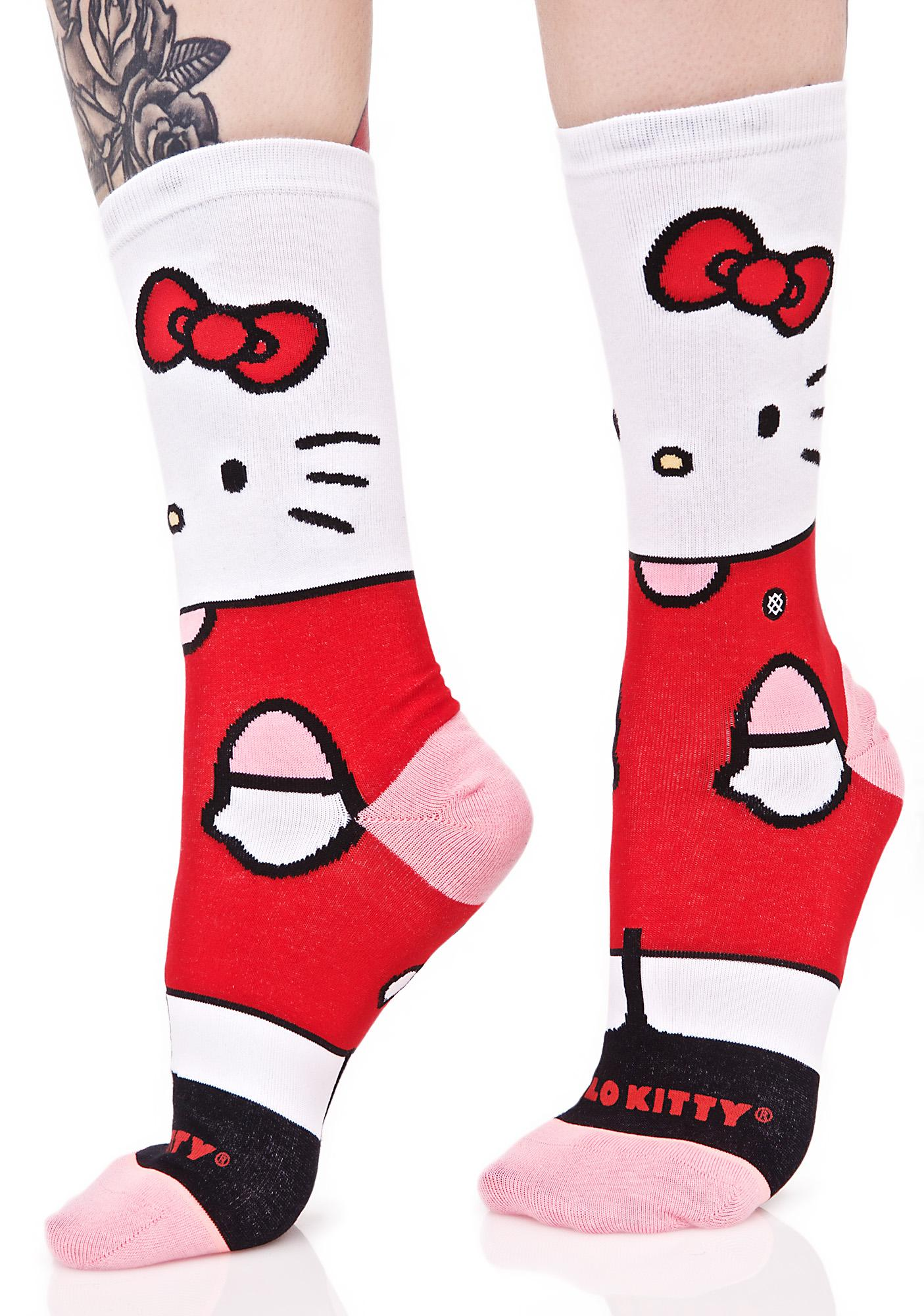 734af7dc4 Stance Hello Kitty Crew Sock | Dolls Kill